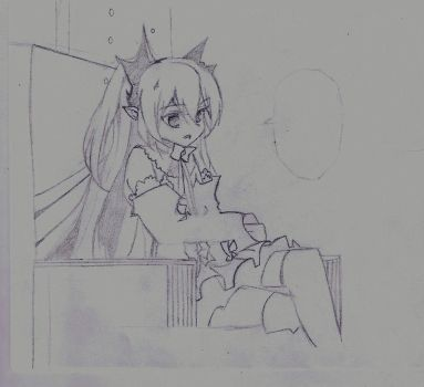 [Sketch] The Queen on her throne by SophieSeraph