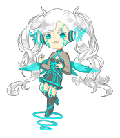Adopt03: Cyber Pixie (CLOSED) by yhviia-adopts
