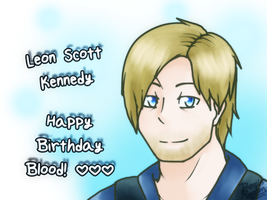 RE- Leon S. Kennedy  Happy Birthday Blood! by DevilsRealm