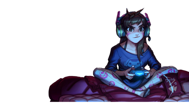 D.Va Cutout PNG Version by Daveyburr