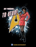 Uhura Pin Up VOTE NOW by ninjaink
