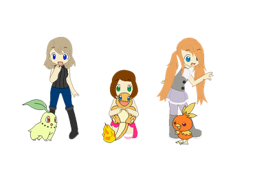 Pokemon girls (without hats) by VeronicaPrower