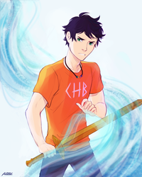 I am the son of Poseidon by Alexgv-art
