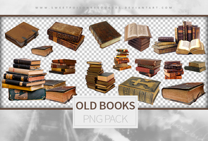 Old Books - Png Pack by sweetpoisonresources