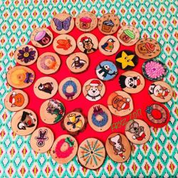 more wood slice Christmas ornaments 2017 by x121887x