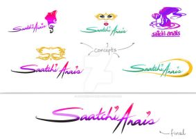 Logo design for Saatchi Anais by hotpinkscorpion
