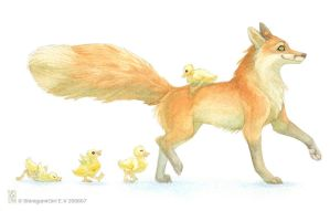 Mother Fox by shinigamigirl