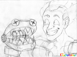 Junkrat The Ventriloquist by KTechnicolour