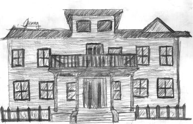 Architecture sketch #1: house by 77tiger77