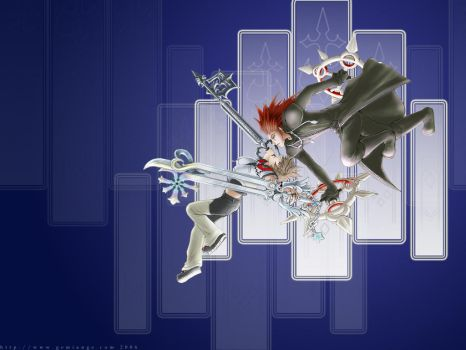 Axel and Roxas wallpaper - KH2 by gemiange