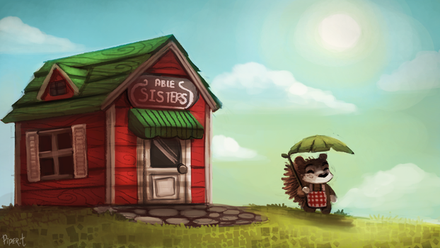 DAY 127. Animal Crossing - Abel (30 Minutes) by Cryptid-Creations