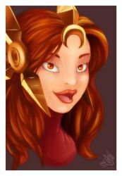 LoL: Leona by LunnaHowell