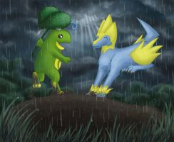 Politoed and Manectric