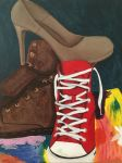 Shoe Still Life Painting by Winged-blackshell