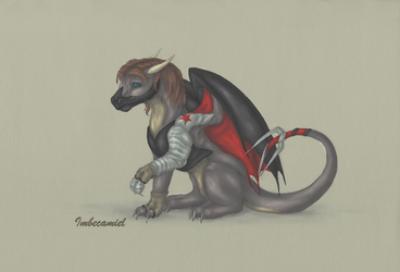 The Winter Dragon (Bucky Barnes, Dragon Style) by Imbecamiel