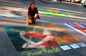 The Passion of Music Chalk Art by charfade