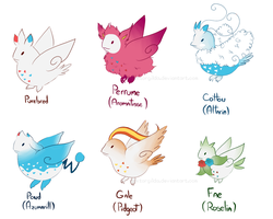 Togekiss Variations by DokGilda