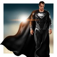 Superman: Justice League (Black Suit) by dimitrosw