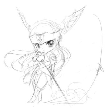 Vannessa Summoners war sketch by azinqe