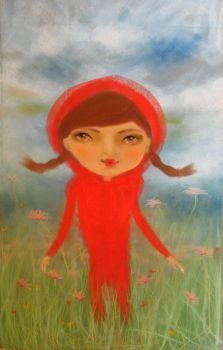 little red girl by mortisamimiko
