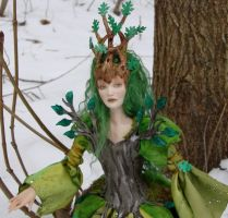 Poseable Dryad in progress 2 by elvenelysium