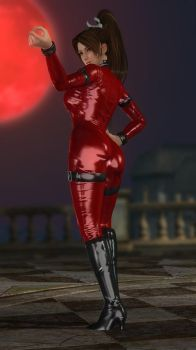 Mai Leather Catsuit Red 006 by DOA5lrScreenShots