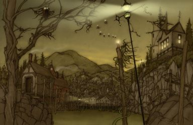 Town of Hopeless, Maine  RPG spread by CopperAge
