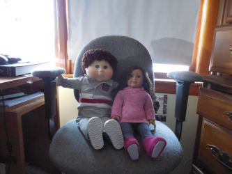 My CPK and my sister's American Girl Doll by GothicTaco198