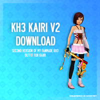 (Almost) 400 WATCHERS GIFT | KH3 Kairi V2 - DL by SnowEmbrace