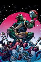 Krampus! #1 cover in colour by thatron