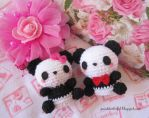 Amigurumi Panda couple by Anitadoma