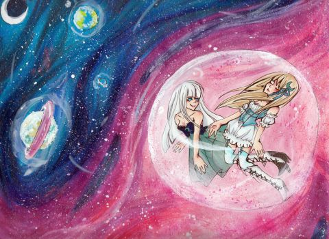 Floating aimlessly through the Universe by Paingu
