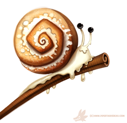 Daily Paint #1010. Cinnamon Snail by Cryptid-Creations