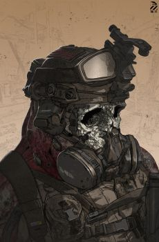 Zombie Hell Trooper. by duster132