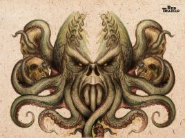 Cthulhu tattoo design for back or chest by redtrujillo