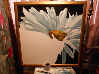 Shasta Daisy...work in progress by ChristopherPollari