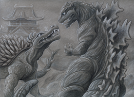 Godzilla Raids Again by fairy-mothra