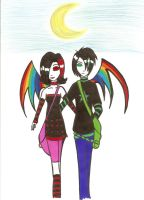 Emo Couple by pink-placebo