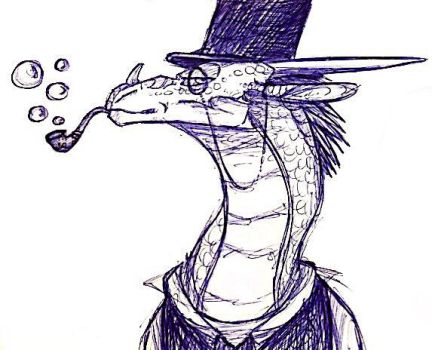 A Rather Dapper Dragon by thebossdragoness