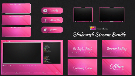 Pink Animated and static stream pack by Kireaki