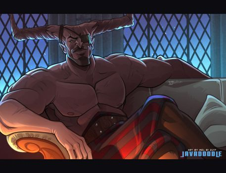 DA:I Tough Love (The Iron Bull) by Javadoodle