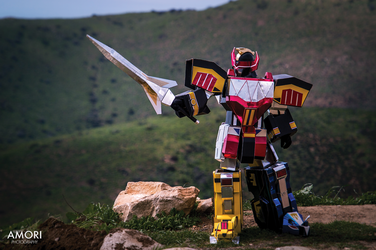 Megazord Cosplay Battle Mode! by d-slim