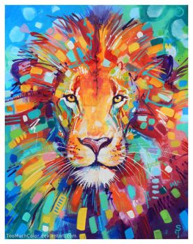 Abstract Lion by TooMuchColor