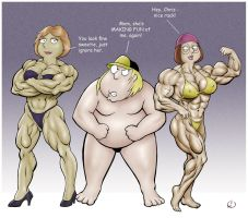 The family that flexes together... by yatz