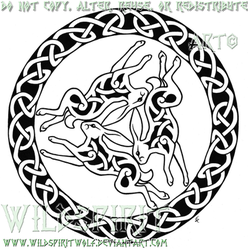 Triple Hare Celtic Tattoo by WildSpiritWolf