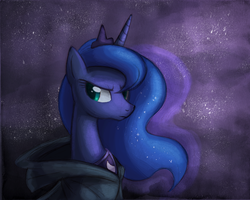 Princess Luna with Cloak by Ric-M