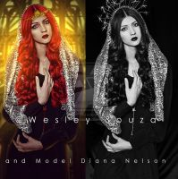 A Light in The Darkness - before and after by Wesley-Souza