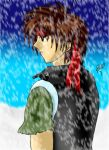 Orphen in the snow