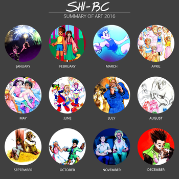 2016 art summary by Shi-RC