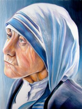 Mother Teresa by FlyAwayFairy